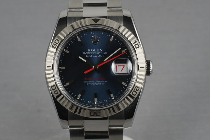 Rolex Datejust Turn-O-Graph 116264 with Blue Dial photo
