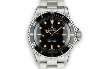 1971 Rolex Submariner 5513 with Glossy Service Dial photo