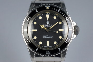 1972 Rolex Submariner 5513 Serif Dial photo