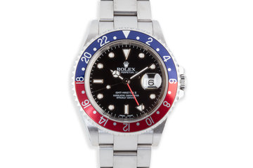 "2002 Rolex GMT-Master II 16710 ""Pepsi"" Bezel photo"