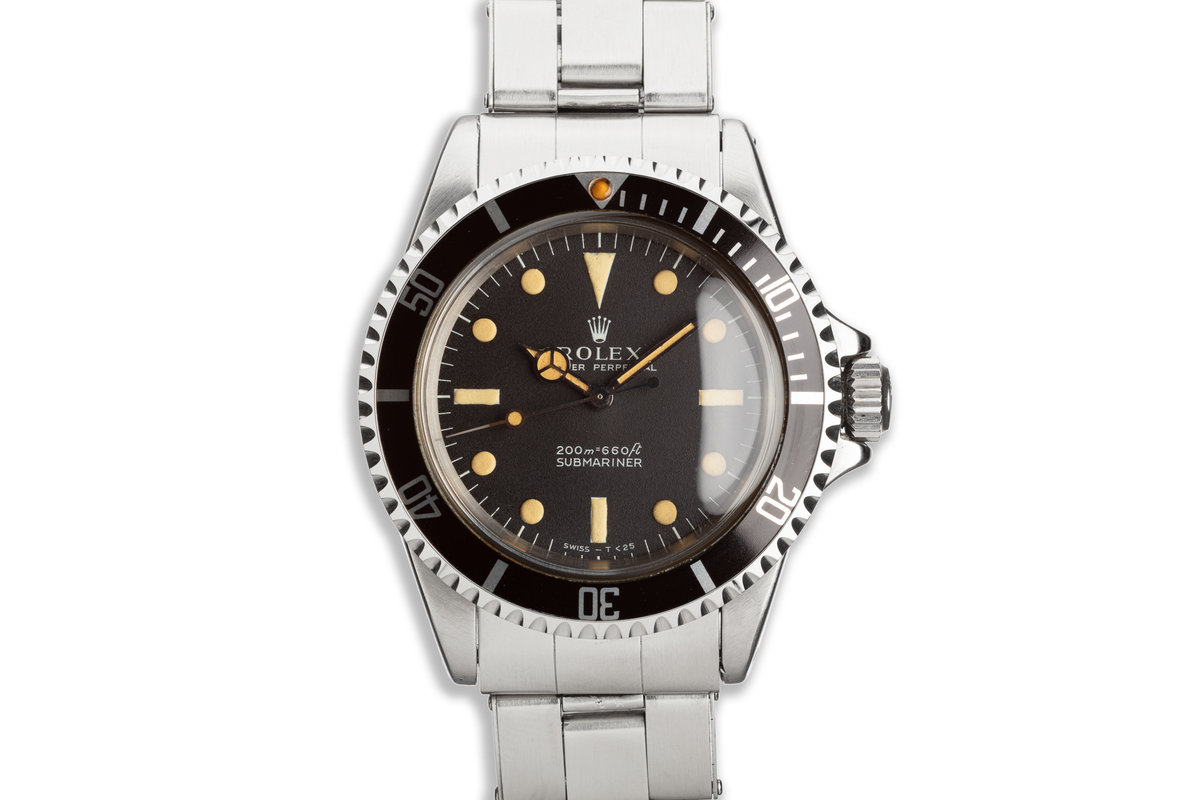 1967 Vintage Rolex Submariner 5513 with Meters First Dial and Service Papers photo, #0