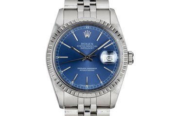 1990 Rolex DateJust 16220 Blue Dial photo