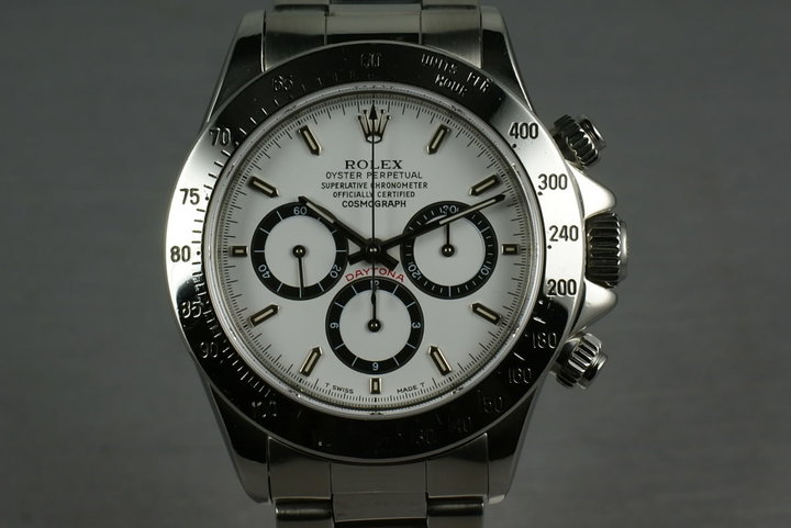 Rolex SS Zenith Daytona 16520 inverted 6 dial photo