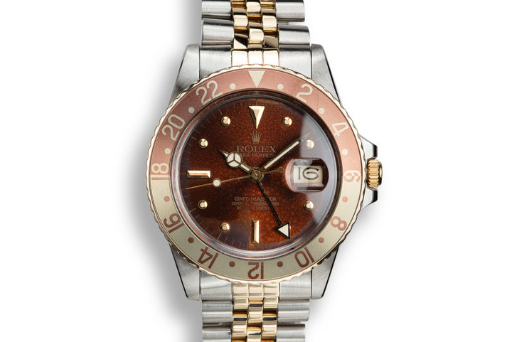 1979 Rolex Two-Tone GMT-Master 16753 Rootbeer Nipple Dial photo