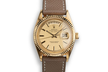1966 Rolex 18K YG Day Date 1803 Champagne Dial photo