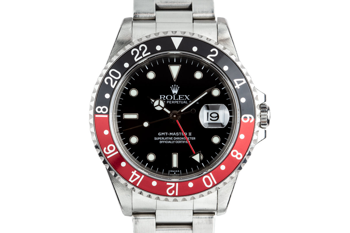 1999 Rolex GMT-Master II 16710 SWISS Only Dial with Service Papers photo, #0