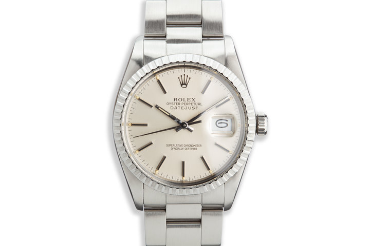 1981 Vintage Rolex DateJust 16030 Silver Dial photo
