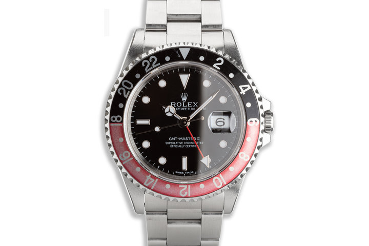 """1996 Rolex Unpolished GMT-Master II 16710 """"Coke"""" Bezel with Box & Papers photo"""