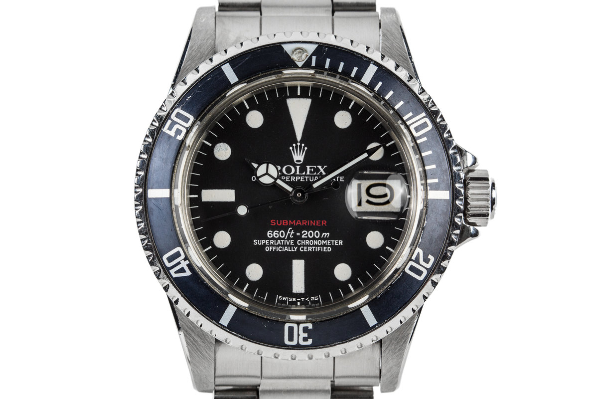 1972 Rolex Submariner 1680 with Red MK VI Dial photo, #0