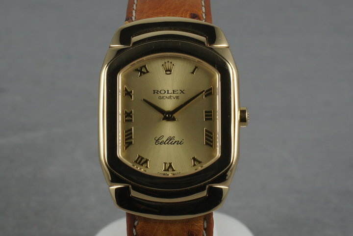 1991 Rolex Ladies Quartz Cellini 18K YG 6631 photo