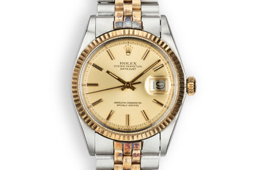 1973 Rolex Two-Tone DateJust 1601 Champagne Sigma Dial photo