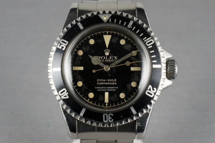 Rolex Submariner 5512 PCG with 4 line chapter ring exclamation dial photo
