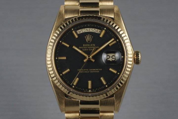 1972 Rolex Gold Day-Date 1803 with Black Wide Boy Dial photo