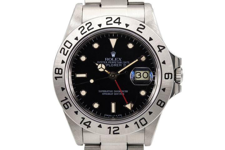 "1987 Rolex Explorer II 'Spider' Dial 16550 with Box and Papers ""Rail Dial"" photo"