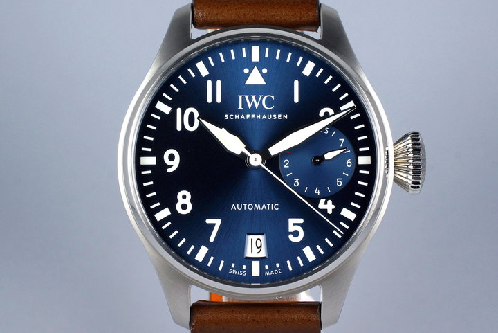 2016 IWC Big Pilot IW5009 Blue Dial with Box and Papers photo