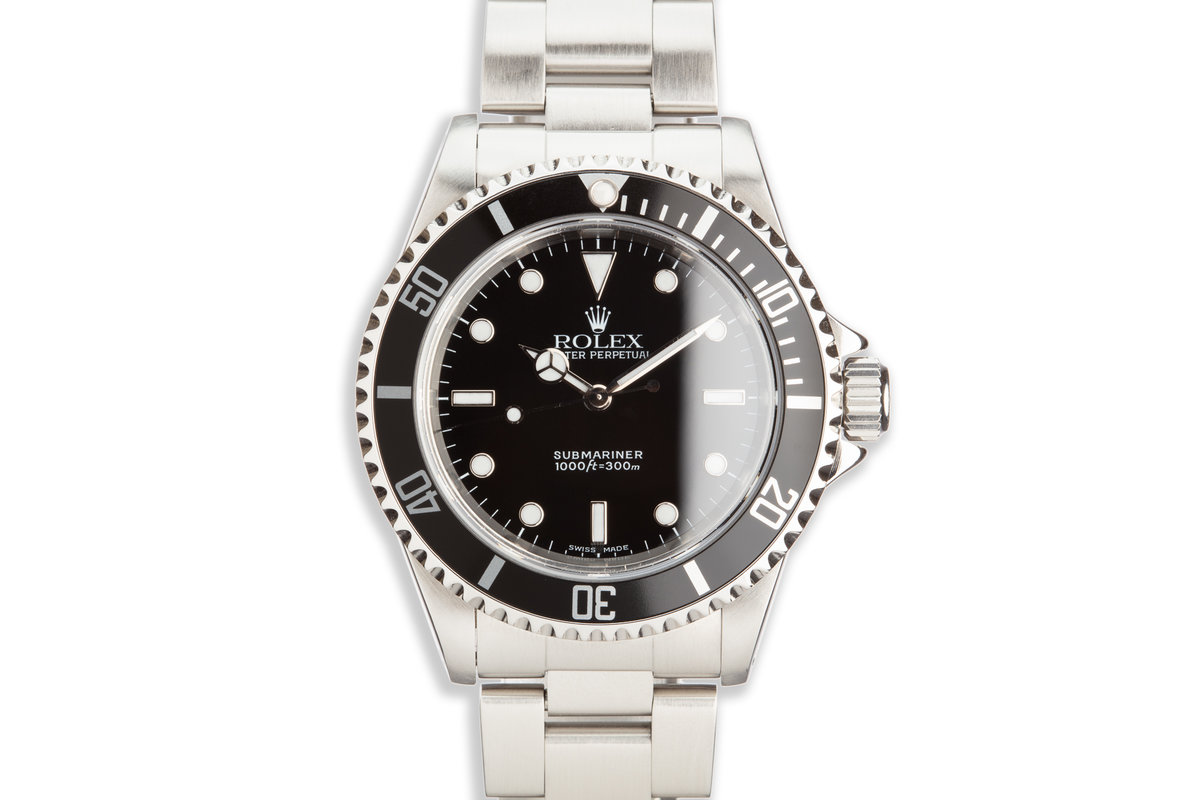1999 Rolex Submariner 14060 with Box and Papers photo, #0
