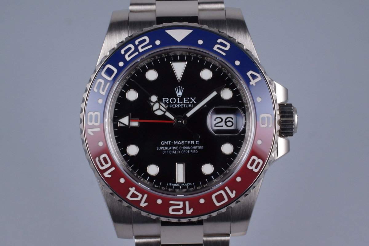 2014 Rolex WG GMT II 116719BLRO with Box and Papers photo, #0