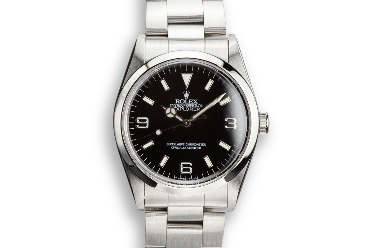 1991 Rolex Explorer I 14270 with Box and Papers photo, #0