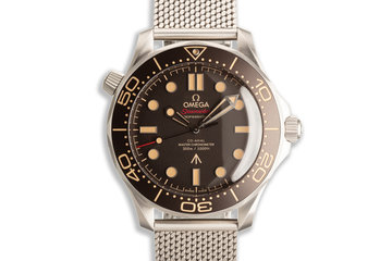 "2020 Omega Seamaster 300M '007 Edition James Bond ""No Time To Die"" 210.90.42.20.01.001 Titanium photo"