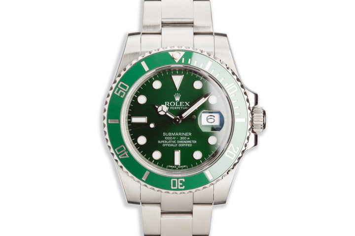 "2012 Rolex Green Submariner 116610LV ""Hulk"" with Box and Papers photo"