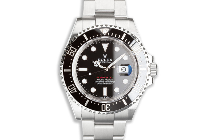 2019 Rolex 43mm Red Sea-Dweller 126600 with Box & Card photo