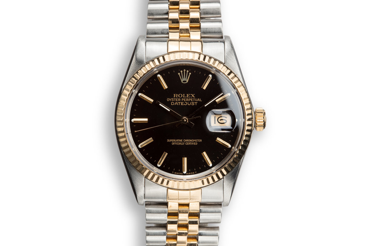1987 Rolex Two-Tone DateJust 16013 Black Dial photo, #0