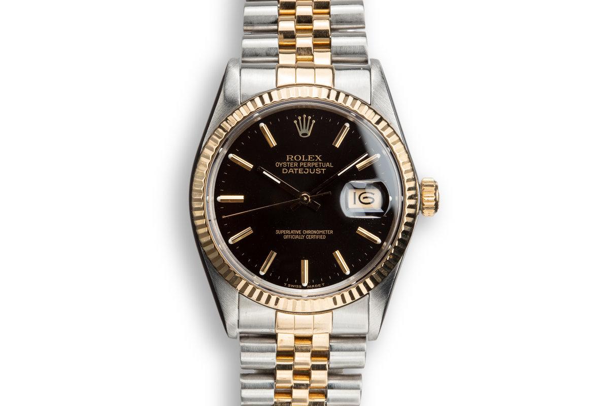1987 Rolex Two-Tone DateJust 16013 Black Dial photo, #0