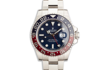 2016 Rolex 18K WG GMT MASTER II 116719BLRO with Box Card & Service Papers photo