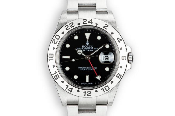 2003 Rolex Explorer II 16570 Black Dial photo