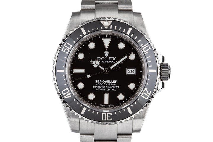 2015 Rolex Ceramic Sea-Dweller 4000 Ref:116600 with Box and Papers photo