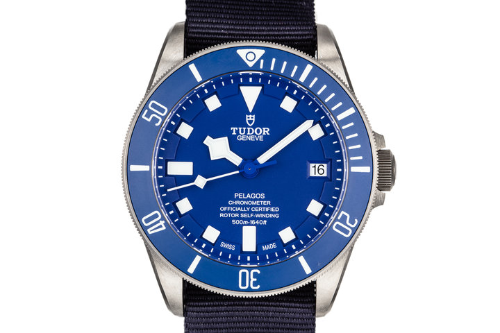 2017 Tudor Titanium Pelagos 25600TB Blue Dial with Box, Papers, Bracelet, and Dive Strap photo