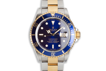 2006 Rolex Two-tone Submariner 16613 Blue Dial photo