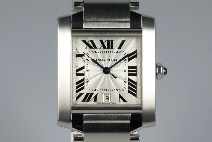 2008 Cartier Tank Francaise 2302 with Box and Papers photo