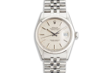 1987 Vintage Rolex DateJust 16014 with Linen Dial photo