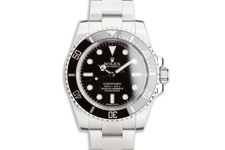 2017 Rolex Submariner 114060 with Box & Card photo
