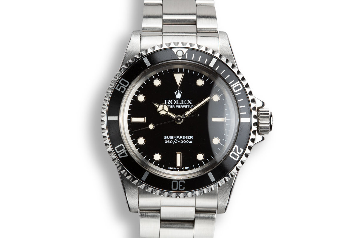 1988 Rolex Submariner 5513 Glossy Spider Cracked Dial with Box and Papers photo, #0