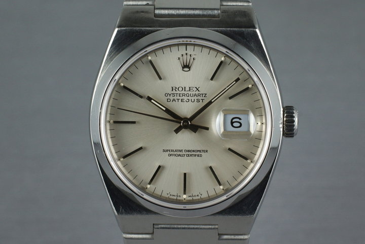 1990 Rolex OysterQuartz DateJust 17000 with Box and Papers photo