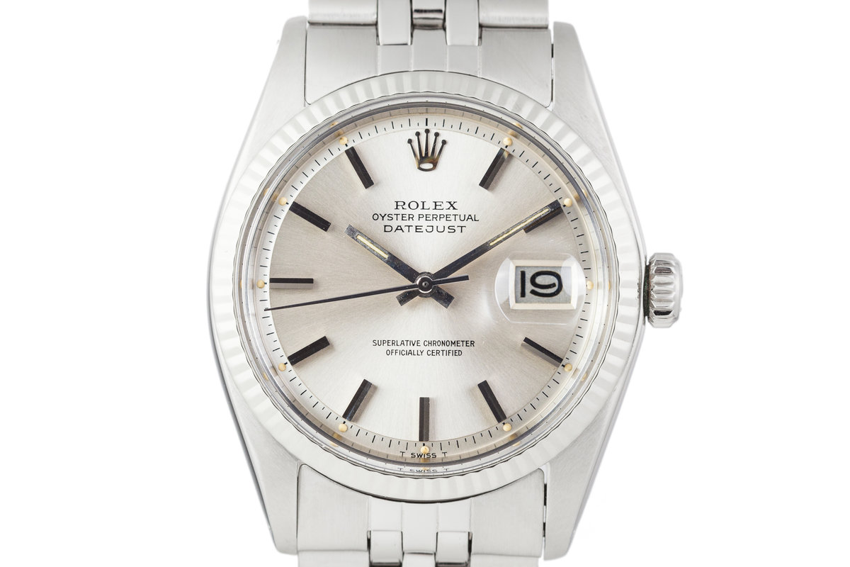 1972 Rolex Datejust 1601 Silver Dial with Box and Papers photo, #0