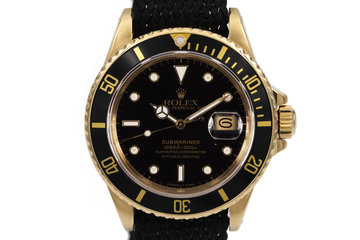 1987 Rolex YG Submariner 16808 photo