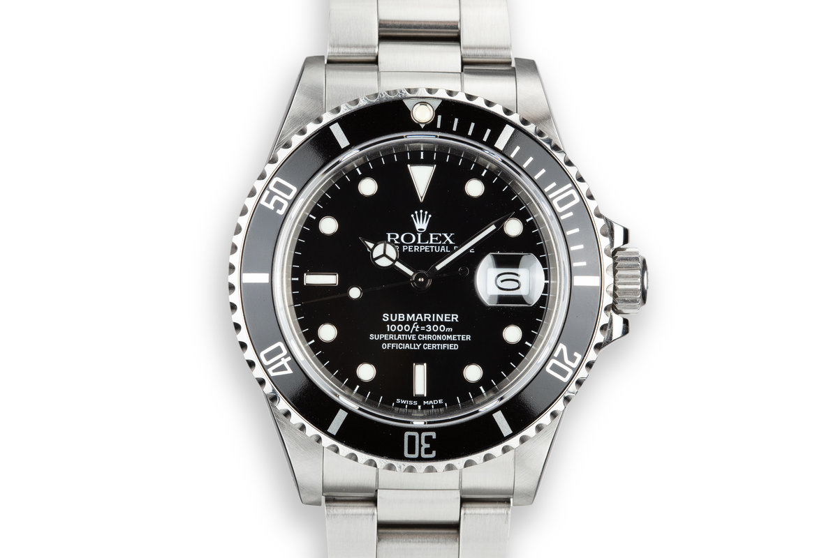 1987 Rolex Submariner 16800 with Box and Papers photo, #0