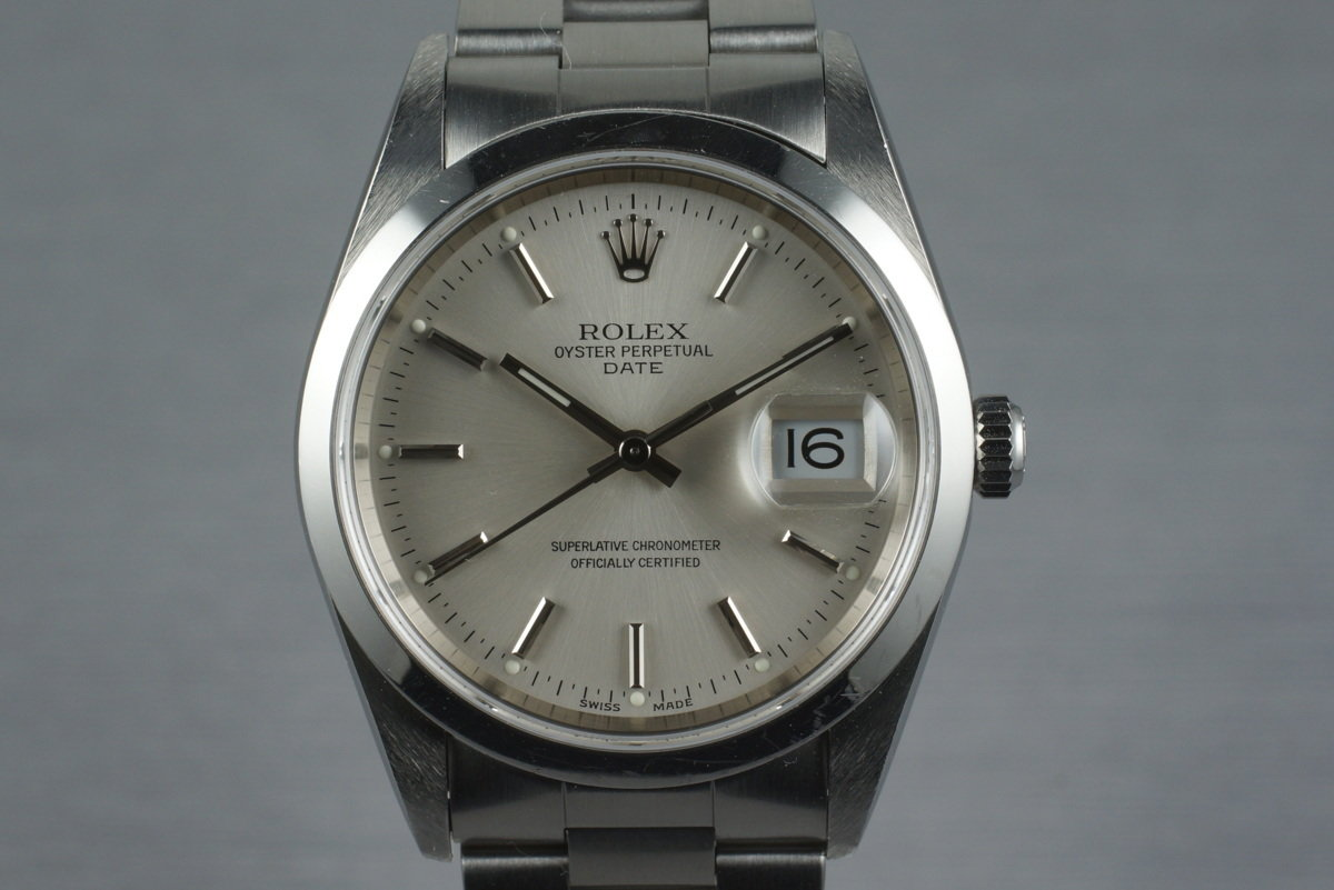 2000 Rolex Oyster Perpetual Date 15200 with Box and Papers photo, #0