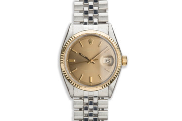 1968 Vintage Rolex DateJust 1601 Gold Dial photo