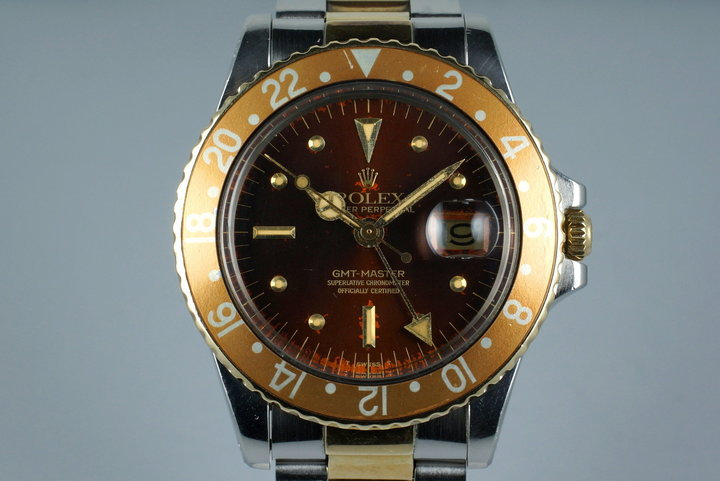 1978 Rolex Two Tone GMT 1675 Root Beer Dial photo