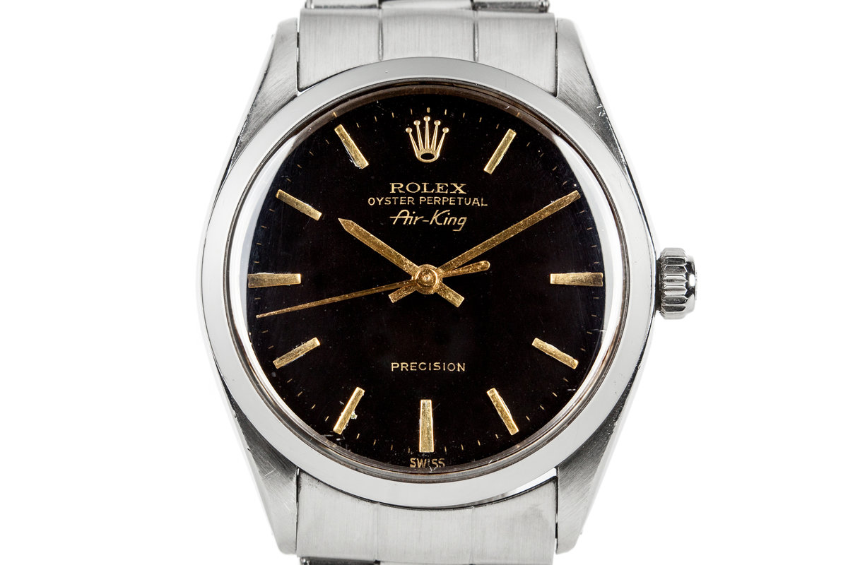 1960 Rolex Air-King 5500 with Swiss Only No Lume Black Dial photo, #0