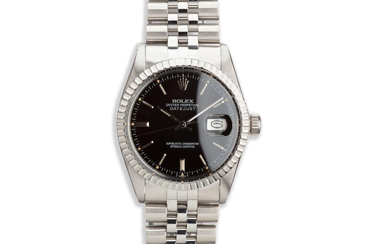 1980 Vintage Rolex Datejust 16030 Black Dial photo, #0