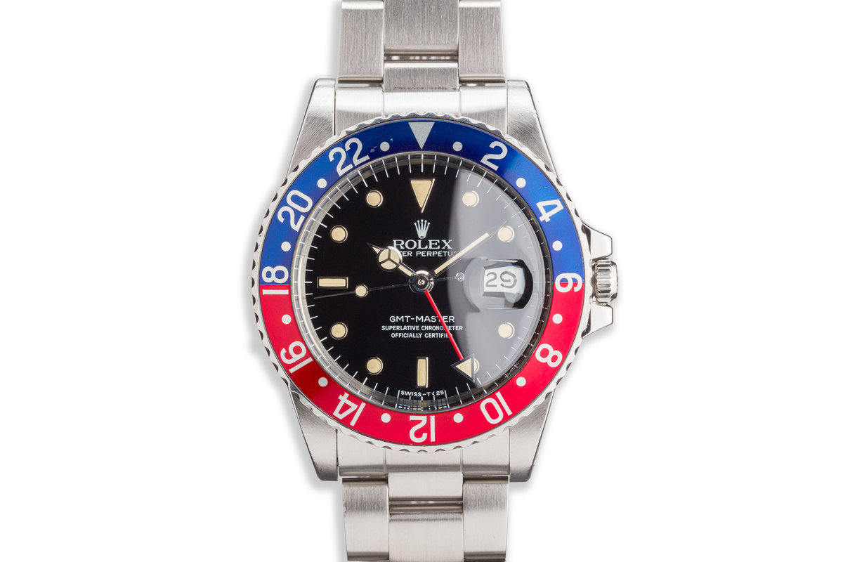 """1984 Vintage Rolex GMt-Master 16750 """"Pepsi"""" with Service Papers photo, #0"""