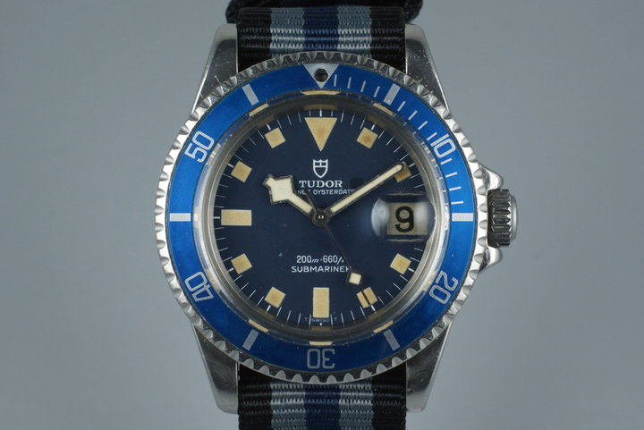 1982 Tudor Submariner 94110 Snowflake with Blue Bezel with Service Papers photo