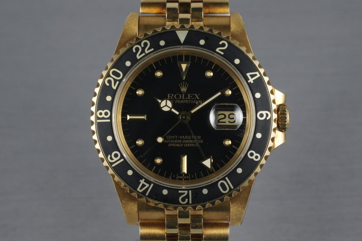 1985 Rolex 18K GMT 16758 with Unpolished Case photo