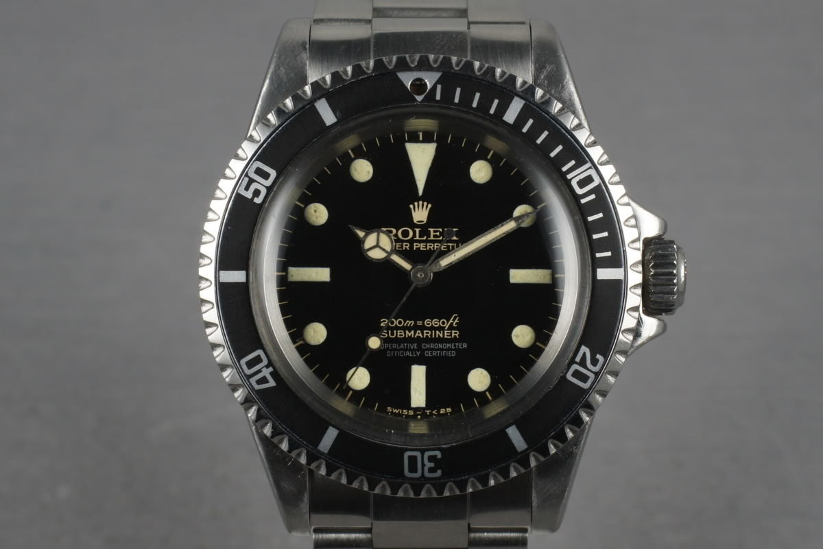 1966 Rolex Submariner 5512 with Glossy Bart Simpson Gilt Dial photo, #0