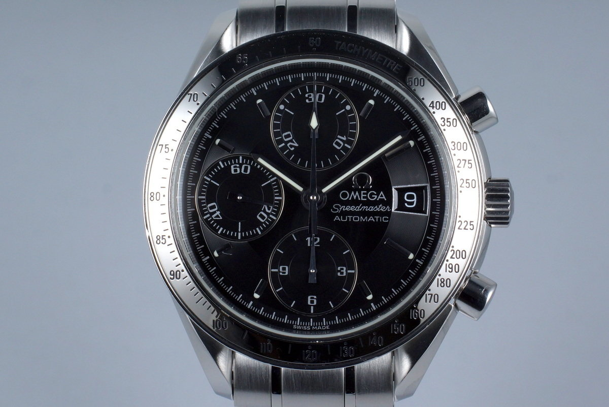 2005 Omega Speedmaster Reduced Automatic Date 3513.50 Black Dial with Papers photo, #0
